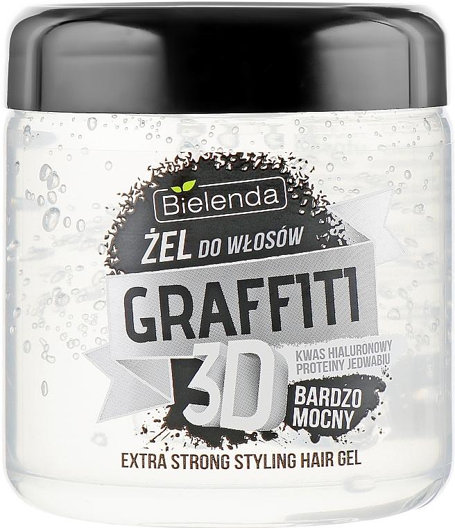 Gel styling capelli - Bielenda GRAFFITI 3D Extra Strong Stayling Hair Gel