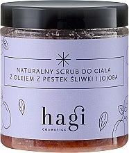 Profumi e cosmetici Scrub naturale con olio di prigna e jojoba - Hagi Scrub