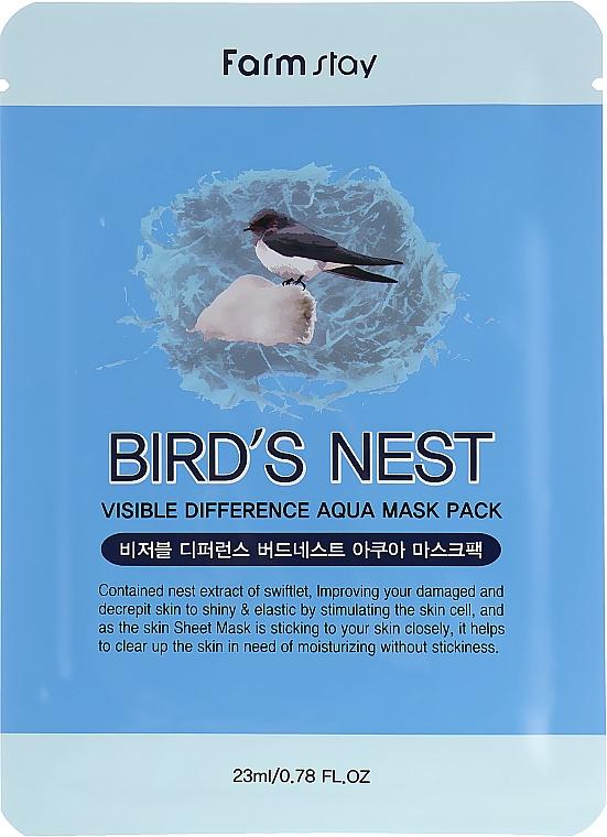 Maschera in tessuto all'estratto di nido di rondine - Farmstay Visible Difference Mask Sheet