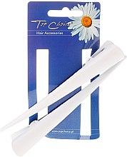 Profumi e cosmetici Fermacapelli, taglia L, bianca, 2 pz - Top Choice