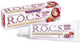 """Profumi e cosmetici Dentifricio """"Fantasia di frutti di bosco"""" - R.O.C.S. Kids Raspberry and Strawberry"""