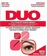 Profumi e cosmetici Adesivo per ciglia finte 2in1 - Ardell Duo Adhesive 2in1 Lash Brush On Clear&Dark