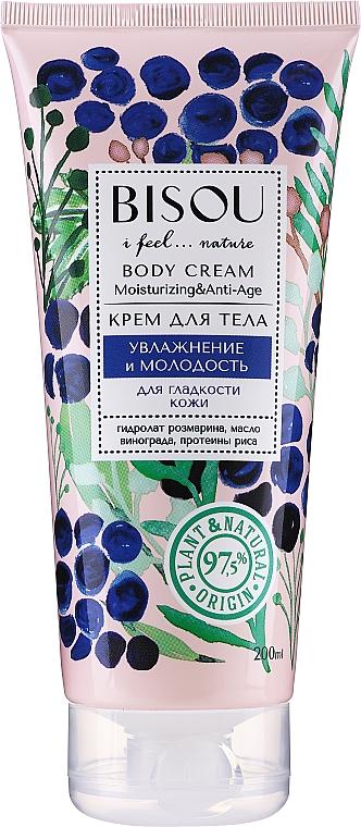"""Crema corpo """"Idratazione e giovinezza"""" - Bisou Moisturizing and Anti-Age Body Cream"""