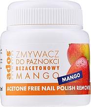 """Profumi e cosmetici Solvente per unghie """"Mango"""" con spugna - Ados Acetone Free Nail Polish Remover"""
