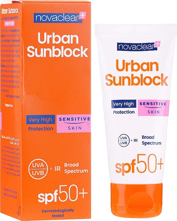 Crema solare per pelle sensibile - Novaclear Urban Sunblock Protective Cream Sensitive Skin SPF50
