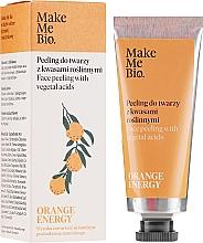 Profumi e cosmetici Peeling viso con acidi vegetali - Make Me Bio Orange Energy Face Peeling With Vegetal Acids