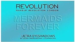 Palette ombretti, 32 tonalità - Makeup Revolution Ultra 32 Shade Palette Mermaids Forever — foto N2