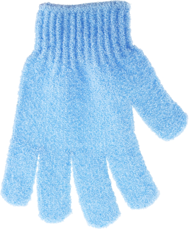 Guanto esfoliante da bagno, blu - Top Choice