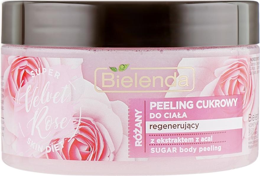 "Scrub corpo rigenerante ""Rose"" - Bielenda Super Skin Diet Velvet Rose"