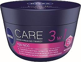 Profumi e cosmetici Crema viso leggera da notte - Nivea Care Night Light Face Cream