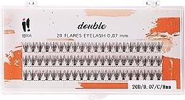 Profumi e cosmetici Ciglia finte a ciuffetti, C 8 mm - Ibra 20 Flares Eyelash Knot Free Naturals