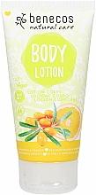 """Profumi e cosmetici Lozione corpo """"Olivello spinoso e arancia"""" - Benecos Sea Buckthorn & Orange Natural Body Lotion"""