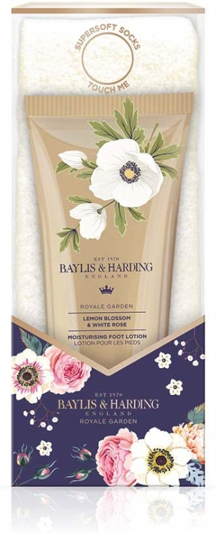 Set - Baylis & Harding Royale Garden Foot Care Set (f/lot/125ml + socks) — foto N1