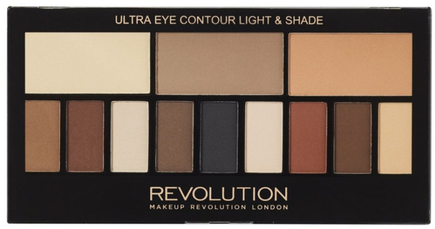 Palette ombretti, 12 Tonalità - Makeup Revolution Ultra Eye Contour Light and Shade
