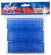 Profumi e cosmetici Bigodini con velcro 40/63, blu - Ronney Professional Velcro Roller