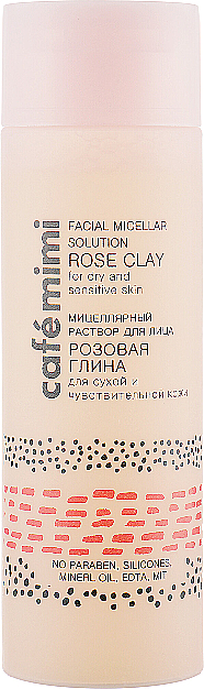 "Lozione micellare per viso ""Argilla rosa"" - Cafe Mimi Facial Micellar Solution Rose Clay"