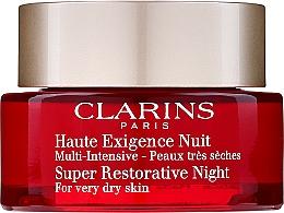 Profumi e cosmetici Crema rigenerante da notte per pelli molto secche - Clarins Super Restorative Night For Very Dry Skin