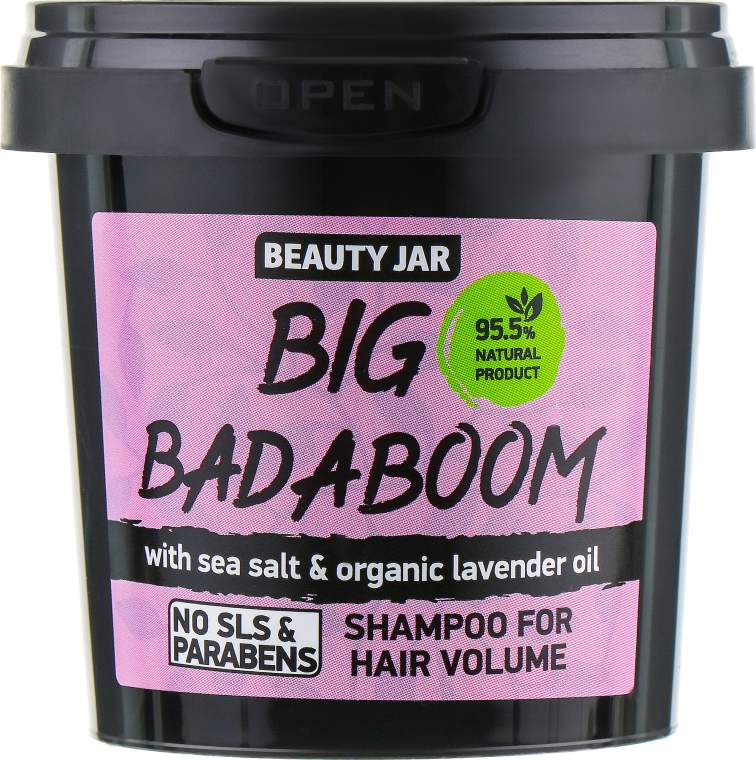 "Shampoo volumizzante ""Big Badaboom"" - Beauty Jar Shampoo For Hair Volume"