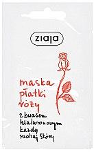 Profumi e cosmetici Maschera viso idratante alla rosa e acido ialuronico - Ziaja