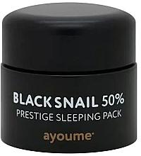 Profumi e cosmetici Maschera da notte antietà alla bava di lumaca nera - Ayoume Black Snail Prestige Sleeping Pack