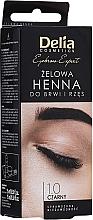 Profumi e cosmetici Gel all'henné per sopracciglia (nero) - Delia Eyebrow Tint Gel ProColor 1.0 Black