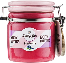 Profumi e cosmetici Burro corpo, mirtillo - Delia Dairy Fun Body Butter Blueberry