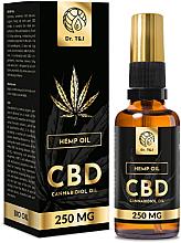 Profumi e cosmetici Olio di canapa naturale Bio CBD 250mg - Dr. T&J Bio Oil