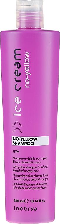 Shampoo per capelli biondi - Inebrya Ice Cream No-Yellow Shampoo
