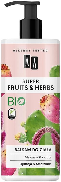 """Lozione corpo """"Opuntia e amaranto"""" - AA Super Fruits & Herbs"""