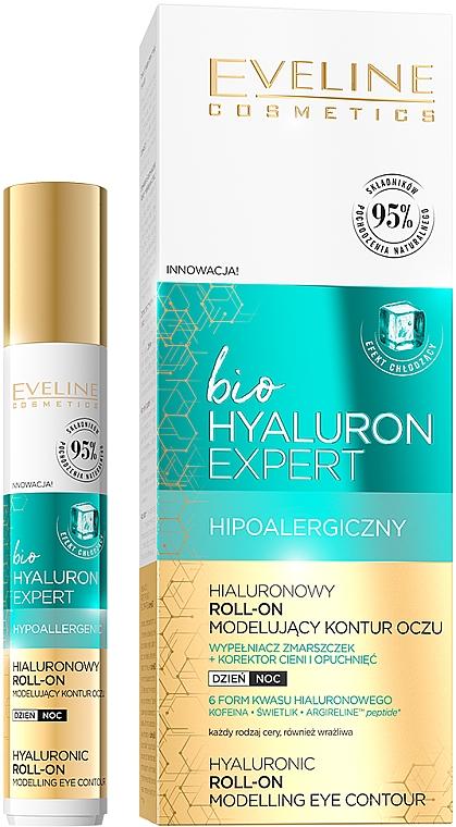 Lozione contorno occhi modellante - Eveline Cosmetics Bio Hyaluron Expert Hyaluronic Roll-on Modelling Eye Contour