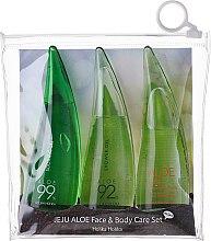 Profumi e cosmetici Set - Holika Holika Aloe Face And Body Care Set (foam/55ml + gel/55ml + sh/gel/55ml)