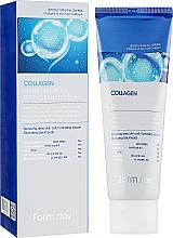 Profumi e cosmetici Schiuma idratante al collagene anti-età - FarmStay Collagen Water Full Moist Deep Cleansing Foam