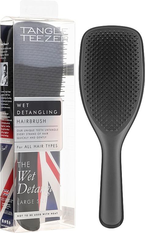 Spazzola per capelli, nera - Tangle Teezer The Wet Detangler Black Gloss Large Size Hairbrush