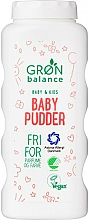 Profumi e cosmetici Talco per bambini - Gron Balance Baby & Kids Baby Pudder