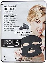 Profumi e cosmetici Maschera viso in tessuto - Iroha Nature Detox Black Tissue Mask Charcoal
