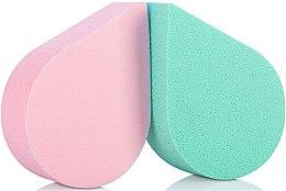Profumi e cosmetici Spugne trucco, 35814, verde + rosa - Top Choice