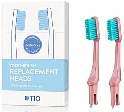 Profumi e cosmetici Testine di ricambio per spazzolino, setole morbide, rosa - TIO Toothbrush Soft