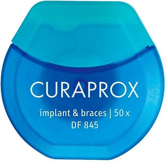 Filo interdentale per impianti e apparecchi ortodontici - Curaprox DF845 Implant & Braces — foto N1