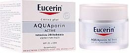 Profumi e cosmetici Crema viso - Eucerin AquaPorin Active Deep Long-lasting Hydration For All Skin Types SPF 25 + UVA