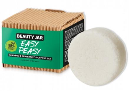 Sapone per capelli e rasatura - Beauty Jar Easy Peasy Shampoo & Shave Multi-Purpose Bar
