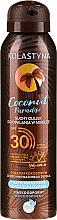 Profumi e cosmetici Olio secco solare - Kolastyna Coconut Paradise Oil SPF30