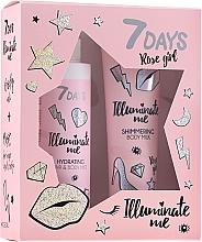 Profumi e cosmetici Set - 7 Days Illuminate Me Rose Girl (b/milk/150ml + mist/180ml)