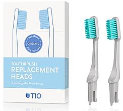 Profumi e cosmetici Testine di ricambio per spazzolino, setole morbide, grigie - TIO Toothbrush Soft