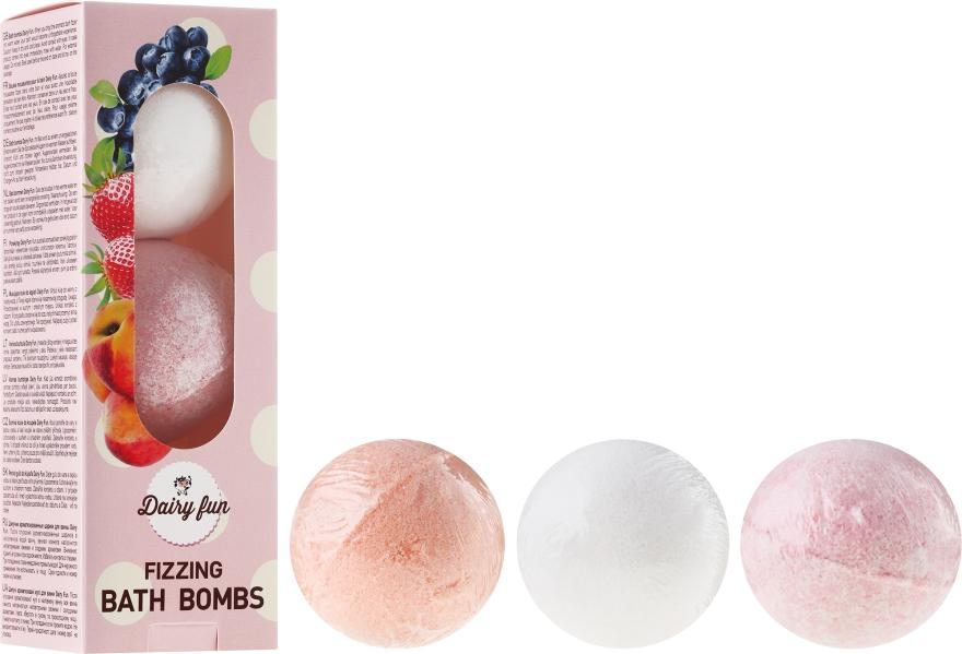 """Bombe da bagno """"Mirtillo, fragola, pesca"""" - Delia Dairy Fun Milky Bath Balls"""