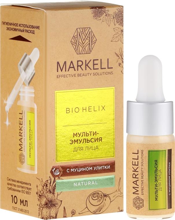 Siero viso alla bava di lumaca - Markell Cosmetics Bio-Helix Facial Multi-Emulsion With Snail Mucin