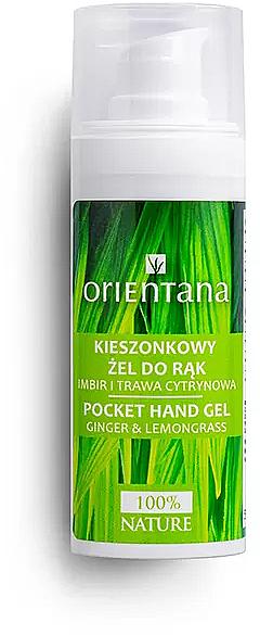 Gel mani antibatterico con zenzero e citronella - Orientana Pocket Hand Gel