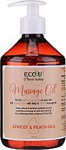 Profumi e cosmetici Olio per massaggi - Eco U Massage Oil Sweet Apricot & Peach Oil