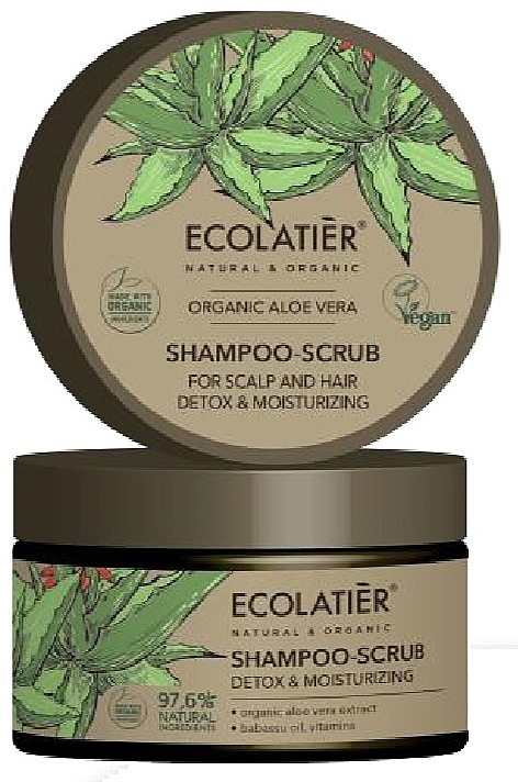 """Scrub-shampoo per capelli """"Pulizia e disintossicazione"""" - Ecolatier Organic Aloe Vera Shampoo-Scrub"""
