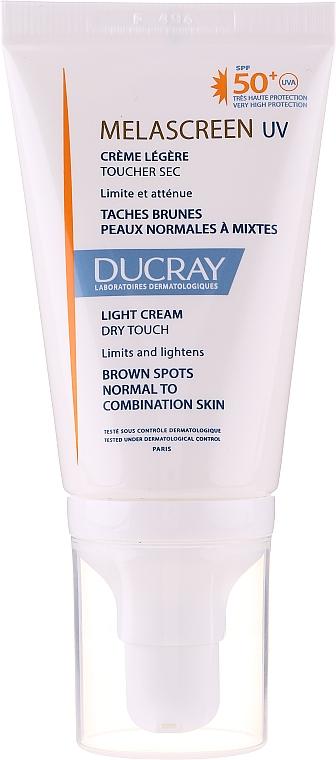 Crema leggera anti-pigmentazione per pelli da normali a miste - Ducray Melascreen UV Light Cream SPF 50+