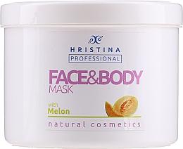 """Profumi e cosmetici Maschera viso e corpo """"Melone"""" - Hristina Professional Melon Face & Body Mask"""